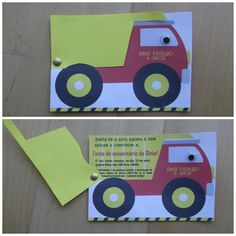 Dinis 4th Birthday party- invitation - Bob the builder
