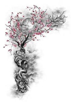 Cherry Blossom Tattoo: Meaning, Designs, Ideas and Much More! Sakura tattoos have been taking the world by storm lately. From what each color tattoo means to plenty of designs, this article will make you want to get a cherry blossom tattoo for yourself! Trendy Tattoos, New Tattoos, Body Art Tattoos, Tatoos, Girly Tattoos, Wing Tattoos, Unique Tattoos, Cherry Blossom Tree, Blossom Trees