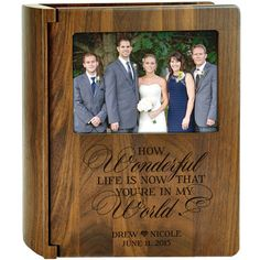 Personalized walnut wedding photo album This day I will Marry my Friend for bride and groom or anniversary couple holds 200 photo Custom Photo Albums, Personalized Photo Albums, Personalized Wedding, Personalized Gifts, 40th Anniversary Gifts, Wedding Anniversary Photos, Wedding Photos, Wedding Ideas, Wedding Portraits