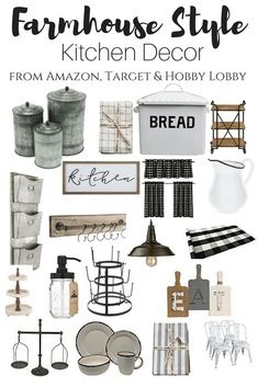 Farmhouse Style Kitchen Decor, Hobby Lobby Kitchen decor, Amazon kitchen decor, Target kitchen decor