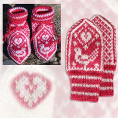 Klikk på bildet for å se større Fingerless Mittens, Knit Mittens, Baby Knitting, Knitted Baby, Cute Socks, Bird Patterns, Wrist Warmers, Sheep, Knit Scarves