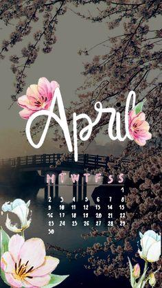 April spring calendar wallpaper iphone