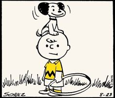 First Peanuts cartoon debuted on October 2, 1950.  Snoopy and Charlie Brown as they appeared then.