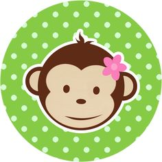 Toppers, labels or stickers of Monkeys. Baby Bug, Baby Shawer, Monkey Birthday Parties, Baby Birthday, 5 Little Monkeys, Monkey And Banana, Oh My Fiesta, Monkey Girl, Thank You Tag Printable
