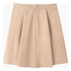 Proenza Schouler Pleated Suede Skirt (9.523.425 IDR) ❤ liked on Polyvore featuring skirts, mini skirts, bottoms, suede mini skirt, proenza schouler, short mini skirts, pleated miniskirt and peach skirt