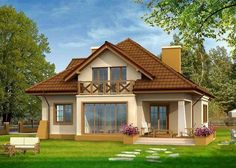 Modern Bungalow House, Bungalow House Plans, Cottage House Plans, Cottage Homes, Home Design Floor Plans, Dream Home Design, My Dream Home, House Design, Modern Log Cabins