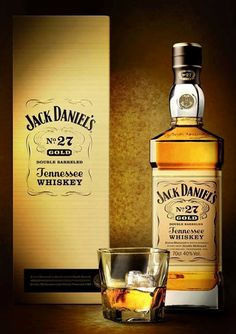 Jack Daniel's No. 27 Gold is an exquisitely refined and finished expression of our original Old No. Scotch Whiskey, Bourbon Whiskey, Jack Daniels Cocktails, The Distillers, Jack Daniel's Tennessee Whiskey, Jack Daniels Bottle, Whiskey Distillery, Alcohol Bottles, Champagne