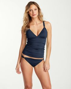 Pearl Over-the-Shoulder Tankini with Hardware