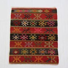 Image of Turkish Hand-Woven Anatolian Rug - 2′1″ × 2′9″