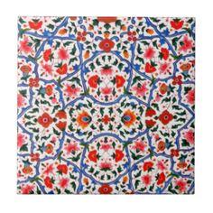 Vintage Islamic Pattern Design Ceramic Tiles
