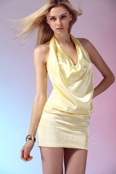 TBDress - TBDress Halter Short/Mini-Length Dashas Cocktail Dress - AdoreWe.com