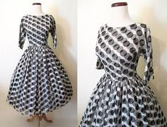 Adorable 1950's Double Polka Dot New Look Party by wearitagain