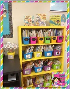 This room is AMAZING! I am definitely coming back to this in July for my new room! Classroom Layout, Classroom Organisation, First Grade Classroom, New Classroom, Teacher Organization, Classroom Design, Kindergarten Classroom, Classroom Themes, Classroom Libraries