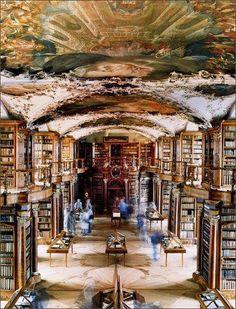 The Melk Monastery Library in Melk, Austria