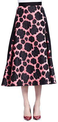Lanvin Mixed Floral-Print Midi Skirt  Price : 4570.00$