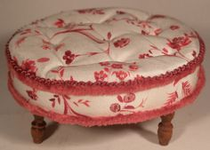 French Reginal Flower Collection Tuffet by Maritza Moran