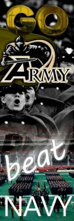 Go Army!  Beat Navy! Army Navy Football, Army & Navy, American College Football, Football Rivalries, United States Military Academy, Navy Midshipmen, Army Brat, Future Soldier