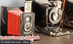First Cardboard Folding Instant Camera - Jollylook http://webneel.com/instant-camera | Design Inspiration http://webneel.com | Follow us www.pinterest.com/webneel
