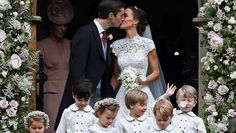 Pippa Middleton se casó con James Matthews, entre figuras como Federer y miembros de la realeza