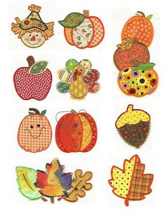 Harvest Patchwork Applique Machine Embroidery Designs | Designs by JuJu