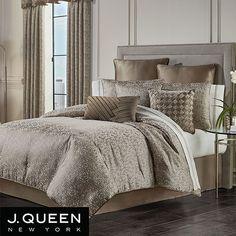 Taupe Comforter, Comforter Sets, Master Bedroom, Bedroom Decor, Queens New York, Queen News, Fractal Design, California King, Luxury Bedding