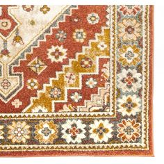 World Menagerie Huette Terracotta Area Rug Traditional Area Rugs, Traditional Design, Blue Gold, Red And Blue, Border Rugs, Exotic Art, Lounge Design, Rugs Online, Power Loom