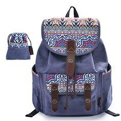 DGY - Mochila para Mujer de lona y PU cuero Bolso de Ocio de Viaje Moda - E00137