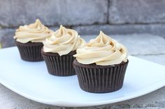 Chocolate Cupcakes with Salted Carmel Buttercream