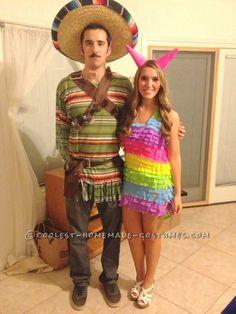 Piñata and Mexican costume