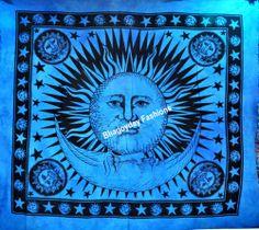 Indian Ethnic Wall Decor Mandala Sun&Moon Tapestry,Bedspread,Hippie,Wall Hanging