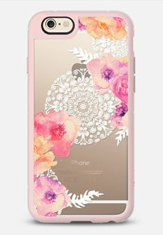 HAPPY SPRING & LACE iPhone 6 case in Pink Gray and Clear by @monikastrigel | @casetify