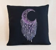 Celestial Moon Fantasy   Customizable Pillow Cover by SheBellaBirk on Etsy