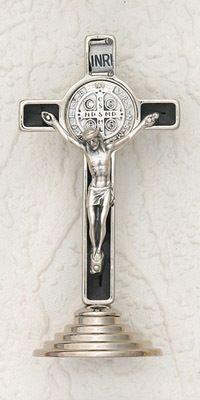 """Jesus Cross 22/"""" Inch Statue San Benito Seal Crucifix Brand New Base"""