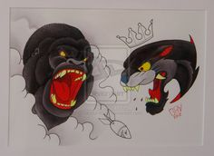 Ape and panther flash by DiabloBambino on deviantART