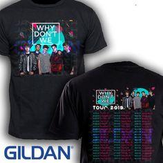 7d6fc2e4 Get Why Don't We tour 2019 concert tee t-shirt Gildan Black and