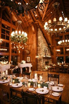 Snowy Destination Wedding in Beaver Creek, Colorado - Reception Space
