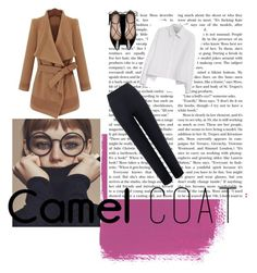 camel coat by cami-supernova on Polyvore featuring polyvore fashion style Y's by Yohji Yamamoto WearAll Kate Spade clothing