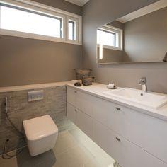 18 Aurinkokaari 2 - WC - Asuntomessut Bathroom Inspiration, Bathroom Ideas, Double Vanity, Toilet, Mirror, Furniture, Bathrooms, House Ideas, Decoration