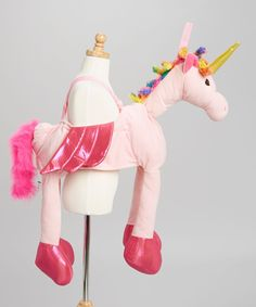 Rainbow Ride-On Unicorn Dress-Up Outfit