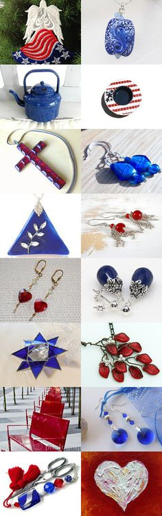 Red, White and Blue! by Allison and Sheryl on Etsy--Pinned with TreasuryPin.com