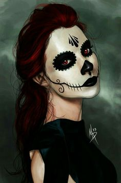 Makeup Face Halloween Day Of The Dead Ideas Scary Halloween, Halloween Make Up, Halloween Costumes, Halloween Face Makeup, Feliz Halloween, Pretty Halloween, Clown Makeup, Halloween 2020, Vintage Halloween