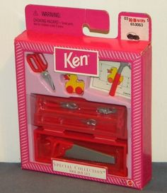 1998 Barbie Special Collection Ken Tool Box Set #21275 NRFB Saw Hammer Pliers ++ #MattelBarbie