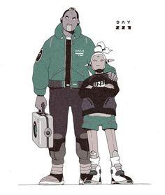 Meet DirtyRobot, an Illustrator Visualizing the Impending Future of Street Culture Cyberpunk Character, Cyberpunk Art, Character Concept, Character Art, Arte Punk, Black Cartoon, Figure Sketching, Found Object Art, Character Design Animation