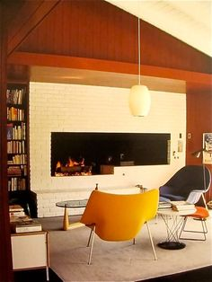 i like white brick fireplaces...