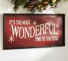 DIY Its the Most Wonderful Time of the Year Sign