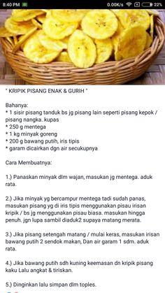 Keripik pisang Quiche Recipes, Snack Recipes, Dessert Recipes, Cooking Recipes, Roti Canai Recipe, Indian Pickle Recipe, Asian Snacks, Salty Snacks, Indonesian Food