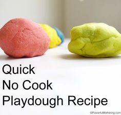 Quick No Cook Playdough Recipe