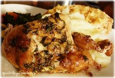 Chicken with 40 Cloves of Garlic by Quirky Cooking - Delish! Garlic Recipes, Paleo Recipes, Real Food Recipes, Chicken Recipes, Fodmap Recipes, Recipe Chicken, Lunch Recipes, Yummy Recipes, Free Recipes