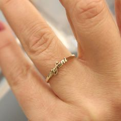 Personalisierte kleine Namen Goldring Ring-Custom Name Ring-Brautjungfer…