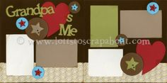 Grandpa Loves Me Scrapbook Page Kit [grandpalovesme12] - $6.99 :: Lotts To Scrap About - Your Online Source for Scrapbook Page Kits!